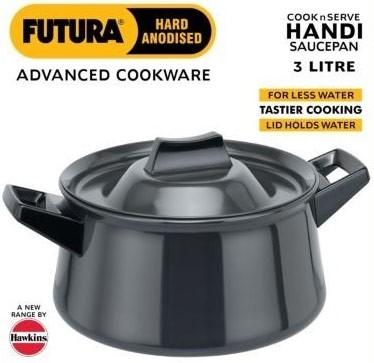 Futura Hard Anodised Handi (Saucepan) - 3 Litre (L41)