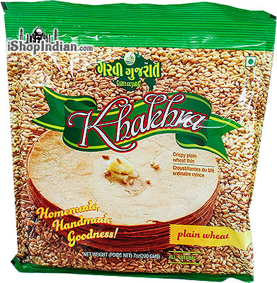 Garvi Gujarat Khakhra - Plain Wheat