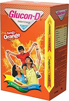 Glucon-D Instant Energy Glucose Powder - Tangy Orange Flavor