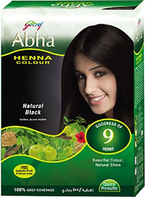 Godrej Abha Henna Color - Natural Black