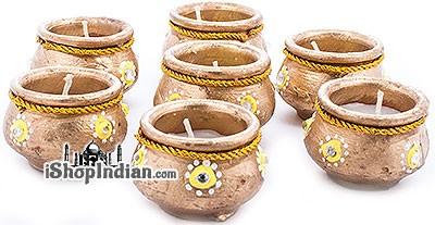 Golden Matki Diya - 7 Pack