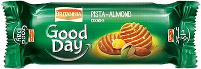Britannia Good Day Pistachio & Almond Cookies - 2.6 oz