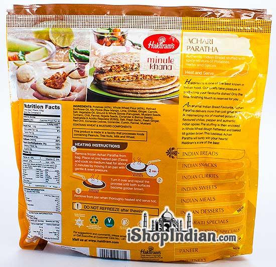Haldiram's Achari Paratha - 4 pcs (FROZEN) - Pack