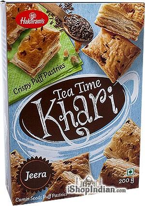 Haldiram's Tea Time Khari (Puff Pastry) Jeera / Cumin - 7 oz