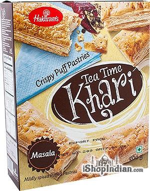 Haldiram's Tea Time Khari (Puff Pastry) Masala - 7 oz