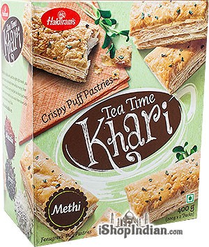 Haldiram's Tea Time Khari (Puff Pastry) Methi / Fenugreek - 14 oz