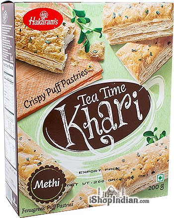 Haldiram's Tea Time Khari (Puff Pastry) Methi / Fenugreek - 7 oz