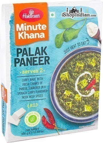 Haldiram's Palak Paneer - Minute Khana (Ready-to-Eat)