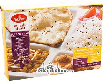 Haldiram's Punjabi Thali - Malai Kofta, Choley, Naan & Rice (FROZEN)