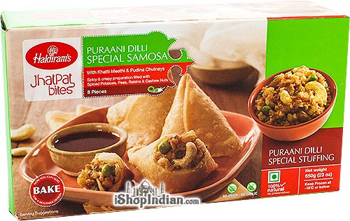 Haldiram's Puraani Dilli Special Samosa - 8 pcs (FROZEN)