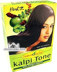 "Hesh ""Naturoriche"" Kalpi Tone Powder (Dark, Dandruff Free Hair)"