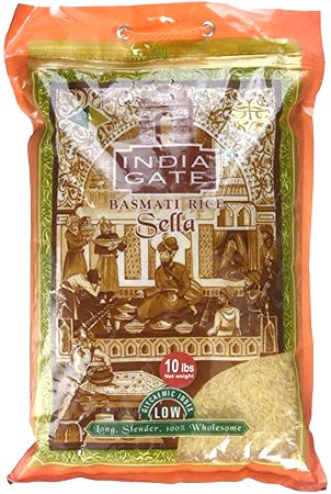 India Gate Parboiled Basmati Rice - Golden Sella - 10 lbs