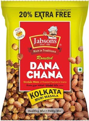 Jabsons Roasted Dana Chana - Kolkata Muri Masala