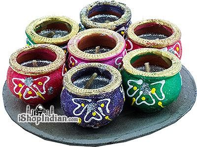 Jamnagari Matki Diya - 7 Pack