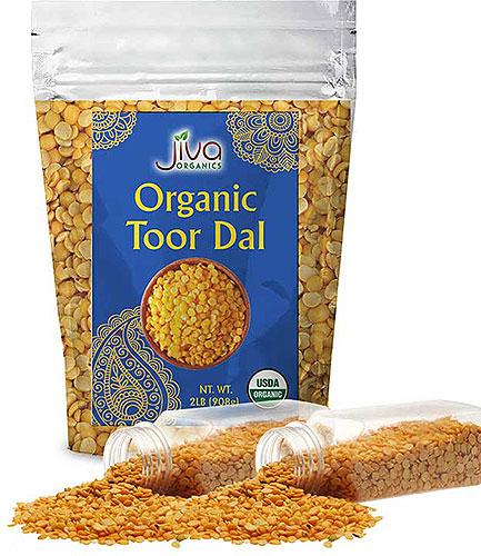 Jiva Organics Toor Dal - 2 lbs