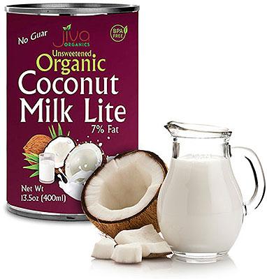 Jiva Organics Unsweetened Organic Coconut Milk - LITE