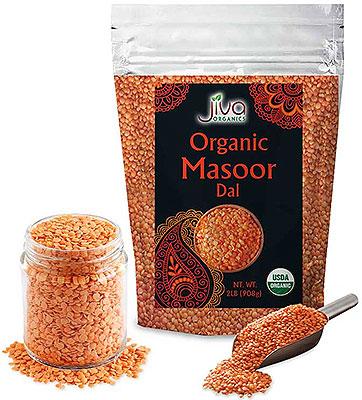 Jiva Organics Masoor Dal (Red Lentil) - 2 lbs
