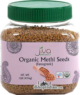 Jiva Organics Methi Seeds (Fenugreek) - 1 lb