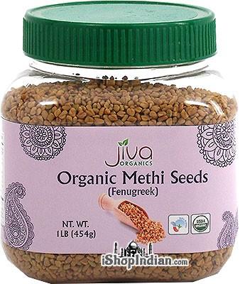 Jiva Organics Methi Seeds (Fenugreek) - 1 lb