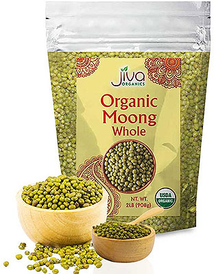 Jiva Organics Moong Whole (Green Gram Whole) - 2 lbs