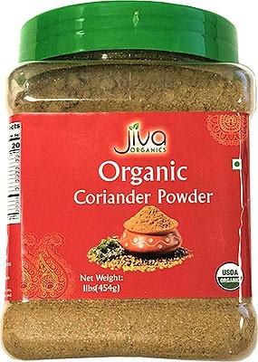 Jiva Organics Coriander Powder - 1 lb jar