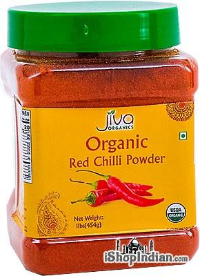 Jiva Organics Red Chilli Powder - 1 lb jar