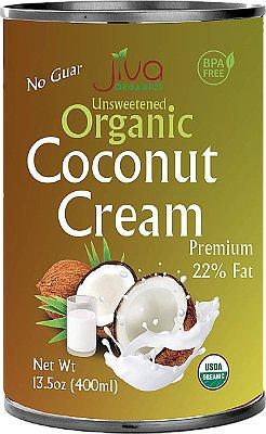 Jiva Organics Unsweetened Organic Coconut Cream