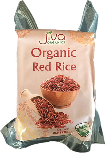 Jiva Organics Red Rice - 2 lbs