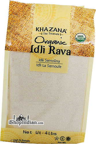 Khazana Organic Idli Rava (Cream of Rice) - 4 lbs