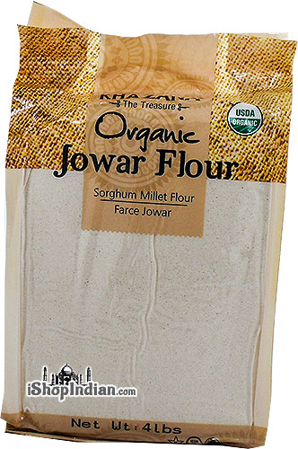 Khazana Organic Jowar / Sorghum Millet Flour - 4 lbs