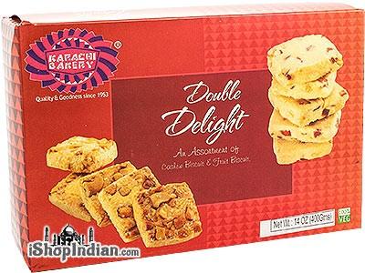 Karachi Bakery Double Delight - Cashew Biscuits & Fruit Biscuits