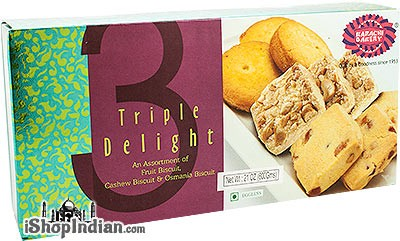 Karachi Bakery Triple Delight - Fruit, Cashew & Osmania Biscuits