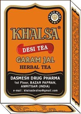 Khalsa - Desi Tea - Garam Jal - Herbal Tea