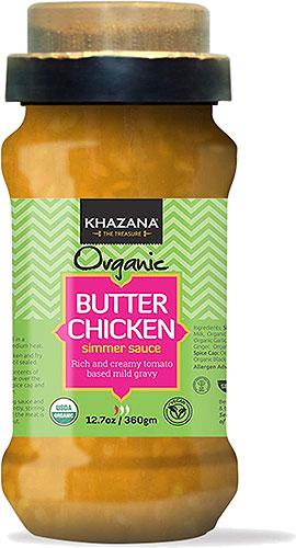 Khazana Organic Butter Chicken Simmer Sauce with Spice Cap