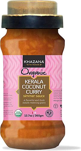 Khazana Organic Kerala Coconut Curry Simmer Sauce with Spice Cap