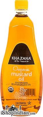 Khazana Organic Mustard Oil - 1 liter