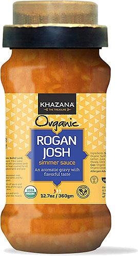 Khazana Organic Rogan Josh Simmer Sauce with Spice Cap