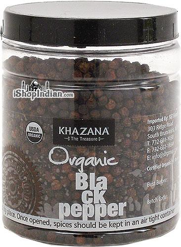 Khazana Organic Black Peppercorns