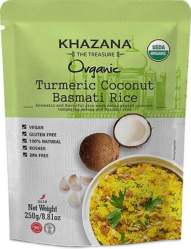 Khazana Organic Turmeric Coconut Basmati Rice (Ready-to-Eat)