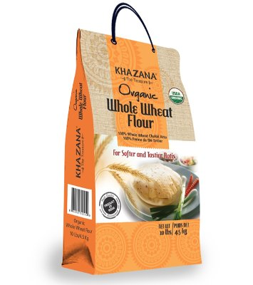 Khazana Organic Whole Wheat Flour - 10 lbs