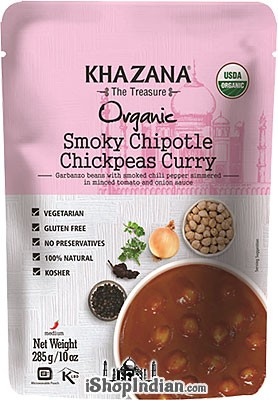 Khazana Organic Smoky Chipotle Chickpeas Curry (Ready-to-Eat)