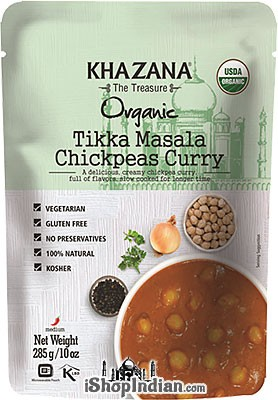 Khazana Organic Tikka Masala Chickpeas Curry (Ready-to-Eat)
