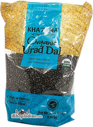 Khazana Organic Urad Whole (Black Gram Whole)