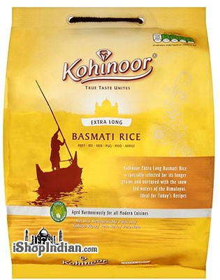 Kohinoor Extra Long Basmati Rice (Gold) - 10 lbs