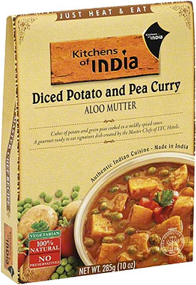 Kitchens of India Aloo Mutter - Diced Potato and Pea Curry (Ready-to-Eat)