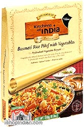 Kitchens of India Hyderabadi Biryani - Basmati Rice Pilaf with Vegetables (Ready-to-Eat)