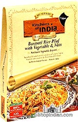 Kitchens of India Kashmiri Vegetable Biryani - Basmati Rice Pilaf with Vegetables & Nuts (Ready-to-Eat)
