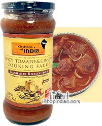 Kitchens of India Spicy Tomato & Ginger Cooking Sauce - Kashmiri Rogan Josh