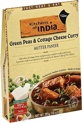 Kitchens of India Mutter Paneer - Green Peas & Cottage Cheese Curry (Ready-to-Eat)
