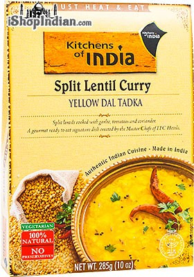 Kitchens of India Split Lentil Curry - Yellow Dal Tadka (Ready-to-Eat)